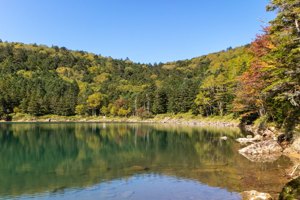 標高2,000mほどの位置にある双子池。