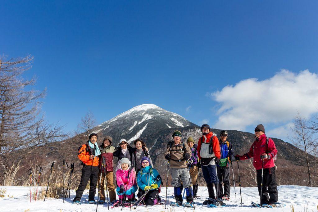美しいカタチの蓼科山もとってもよく見えます。