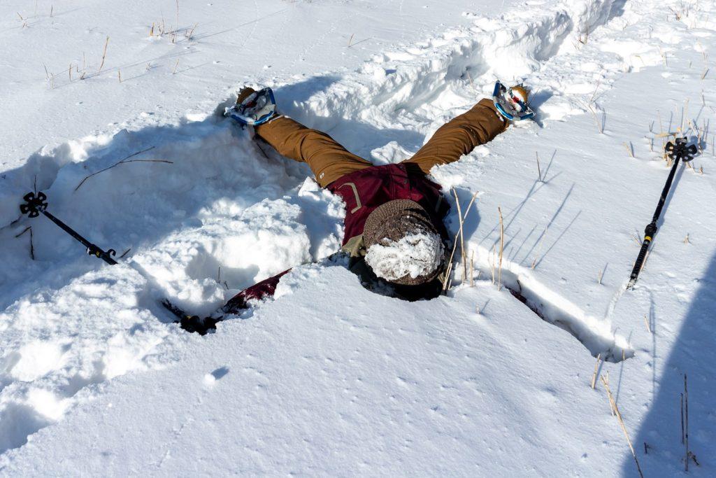 新雪に人形も書ける楽しいスノーハイク!