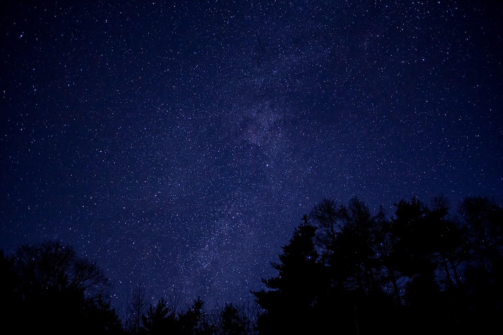 立科町の里エリアに近い三望台からも満天の星空が望める