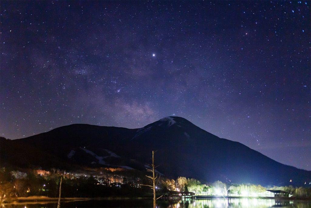 星空おすすめスポットがたくさん!信州たてしな 白樺高原:女神湖からの星空