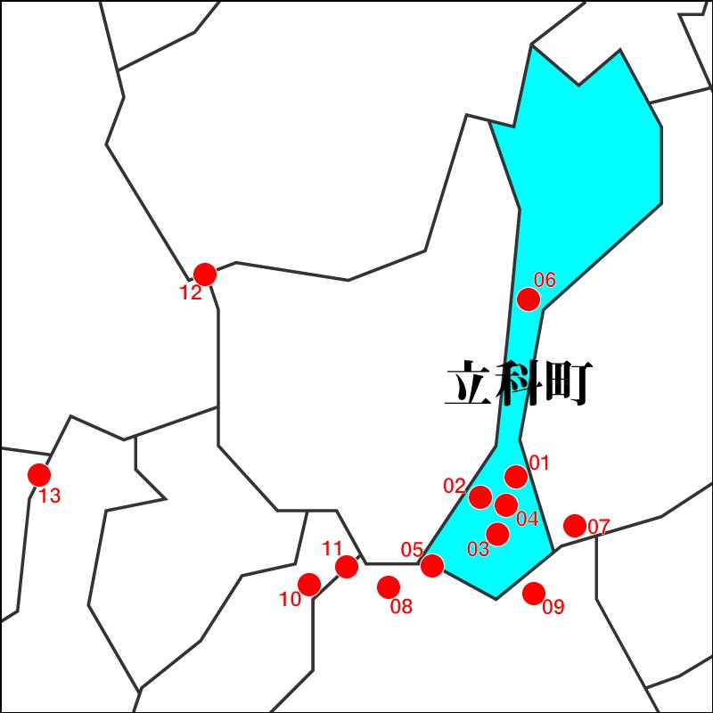 信州たてしな 白樺高原周辺のおすすめ星空マップ
