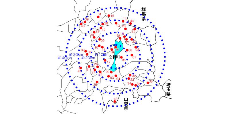 立科町周辺の天然温泉マップ