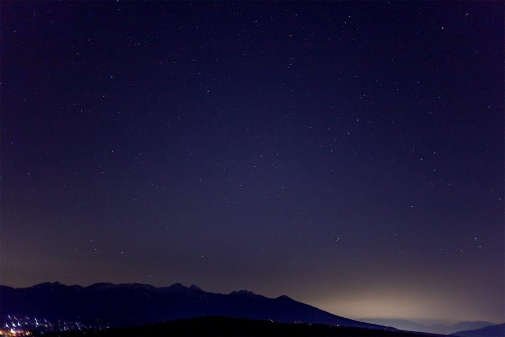 富士見台からの夜の眺め