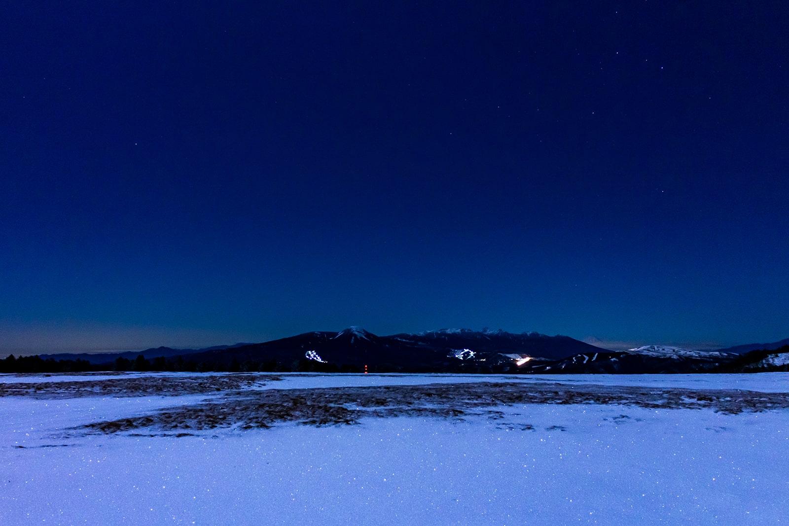 白い大地とはるかな山並みと星空を楽しめる美ヶ原