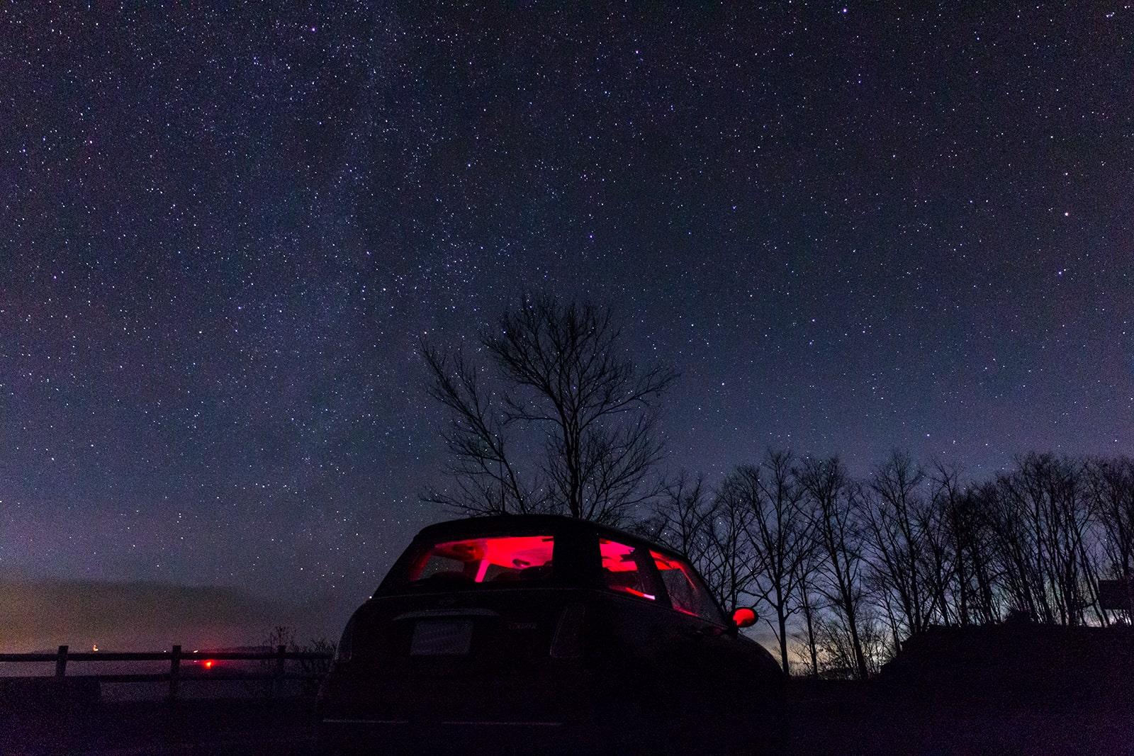 夕陽の丘公園から見る星空