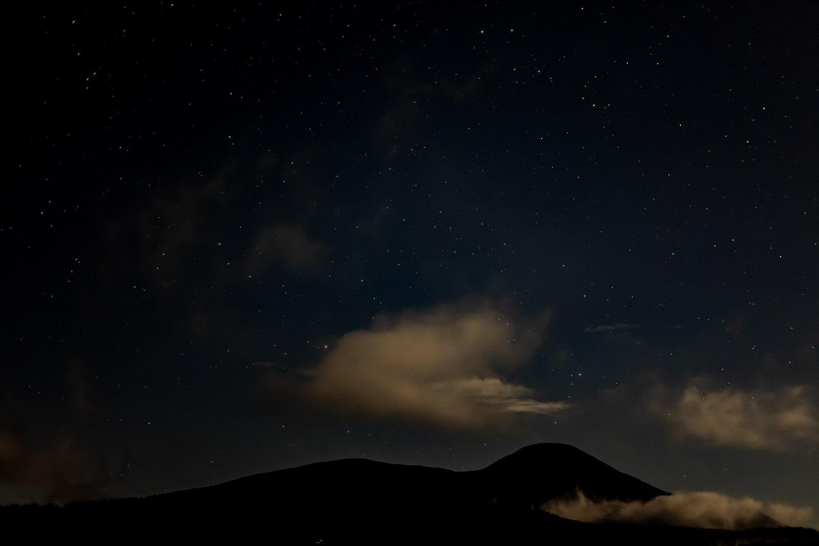 白樺高原にある蓼科第二牧場からの星空