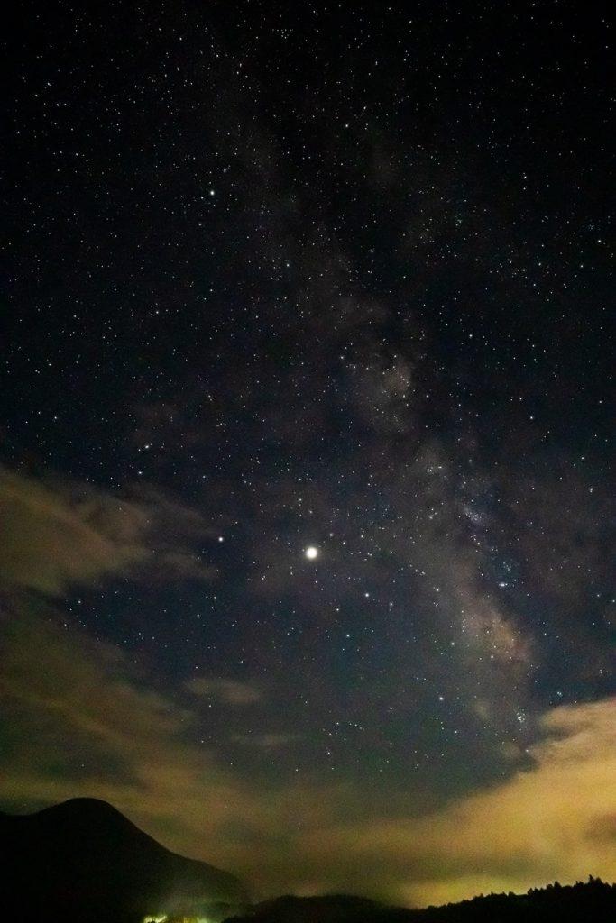 8月23日、蓼科第二牧場の夜空その2
