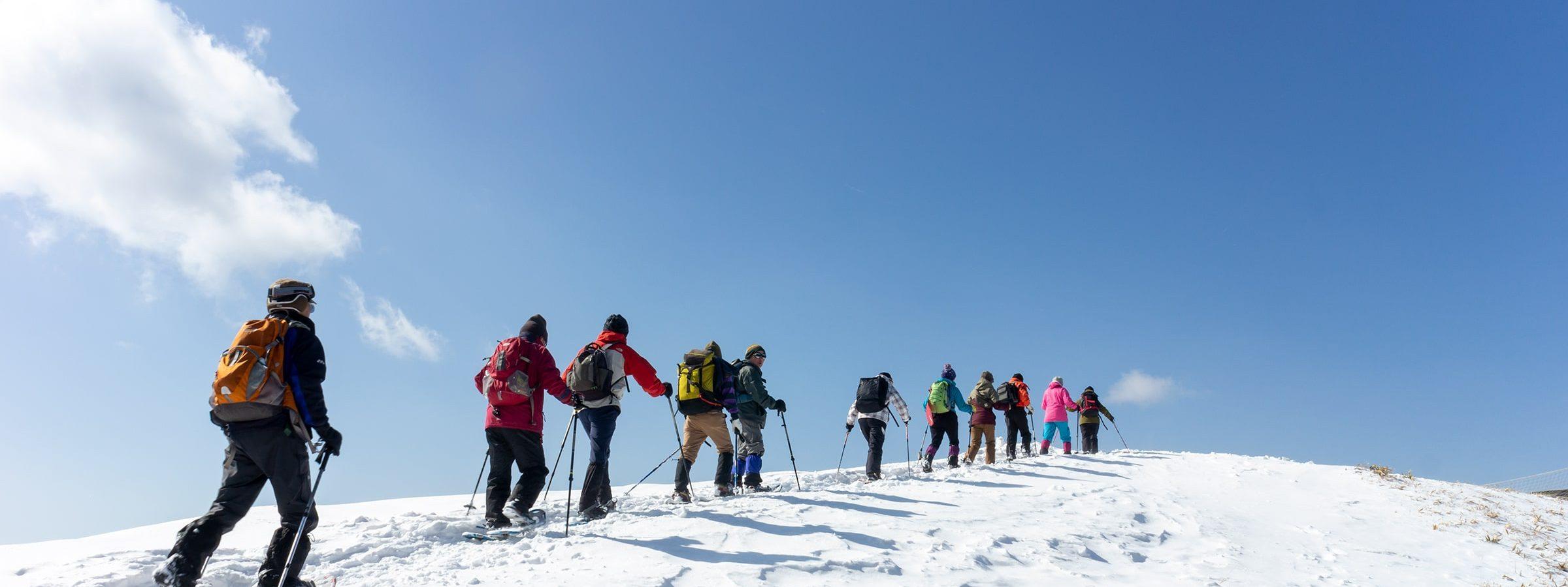 信州たてしな白樺高原の八子ヶ峰で楽しむスノーシュートレイル