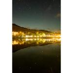 2020年10月23日、白樺湖畔からの星空