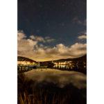2020年10月27日、白樺湖畔からの星空