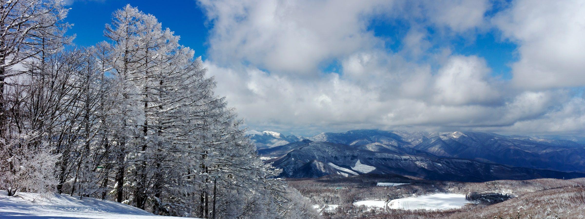 白樺高原国際スキー場からの冬景色