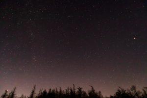 2020年11月21日、蓼科山七合目登山口からの星空。