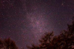 2020年11月22日、蓼科第二牧場からの星空。頭上にはカシオペヤ座とアンドロメダ銀河などが輝いていた。
