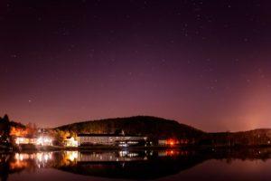 2020年12月9日、白樺湖畔からの星空