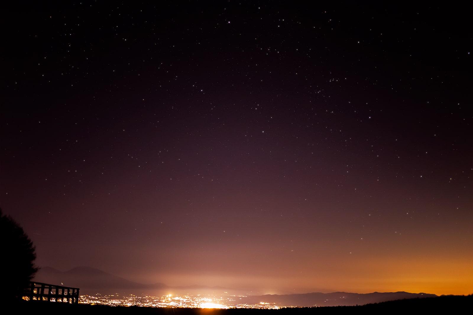 2020年12月10日、蓼科第二牧場からの星空