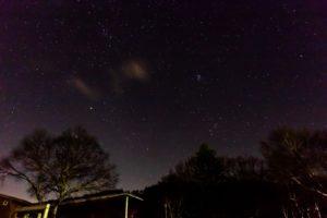 2020年12月13日、女神湖畔からの星空